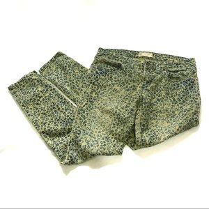 Free People skinny leg floral print jeans